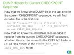 dump history for current checkpoint sequence18