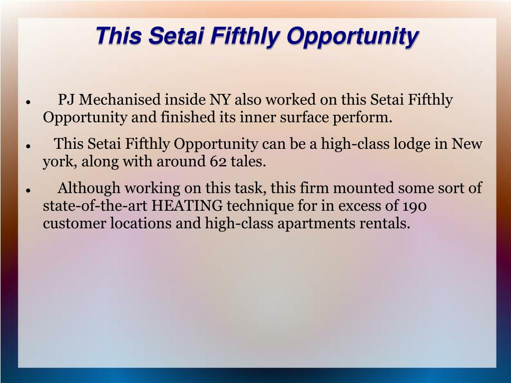 This Setai Fifthly Opportunity