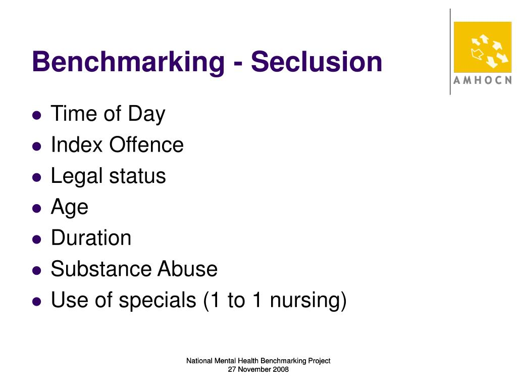 Benchmarking - Seclusion