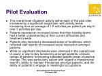 pilot evaluation