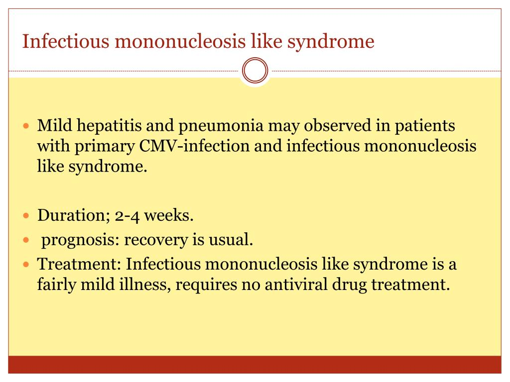 infectious mononucleosis and personal recuperation time Sokal em, hoppenbrouwers k, vandermeulen c, et al recombinant gp350 vaccine for infectious mononucleosis: a phase 2, randomized, double-blind, placebo-controlled trial to evaluate the safety, immunogenicity, and efficacy of an epstein-barr virus vaccine in healthy young adults.
