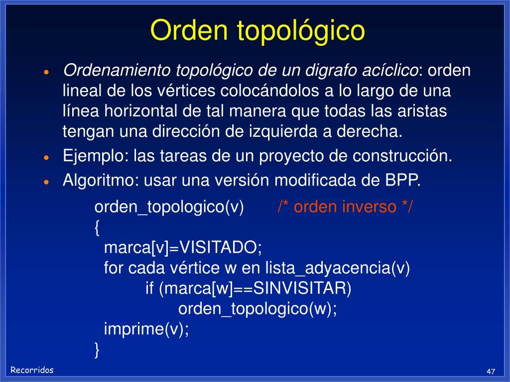 Orden topológico
