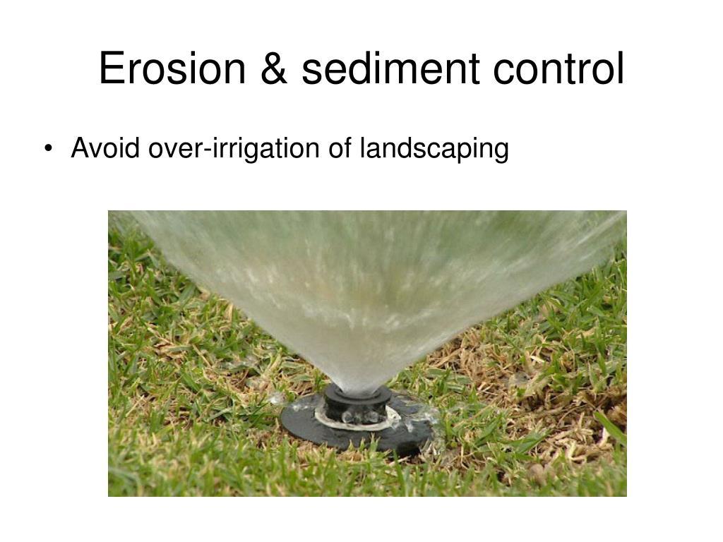 Erosion & sediment control