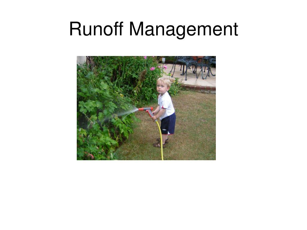 Runoff Management