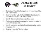 objectives in review