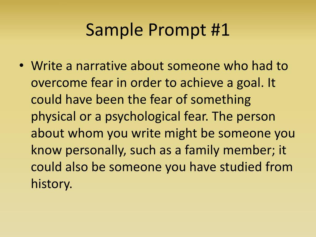 Sample Prompt #1