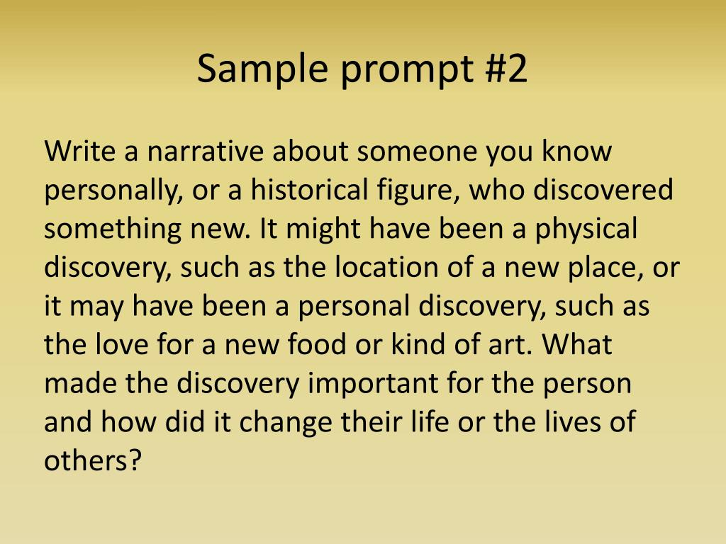 Sample prompt #2
