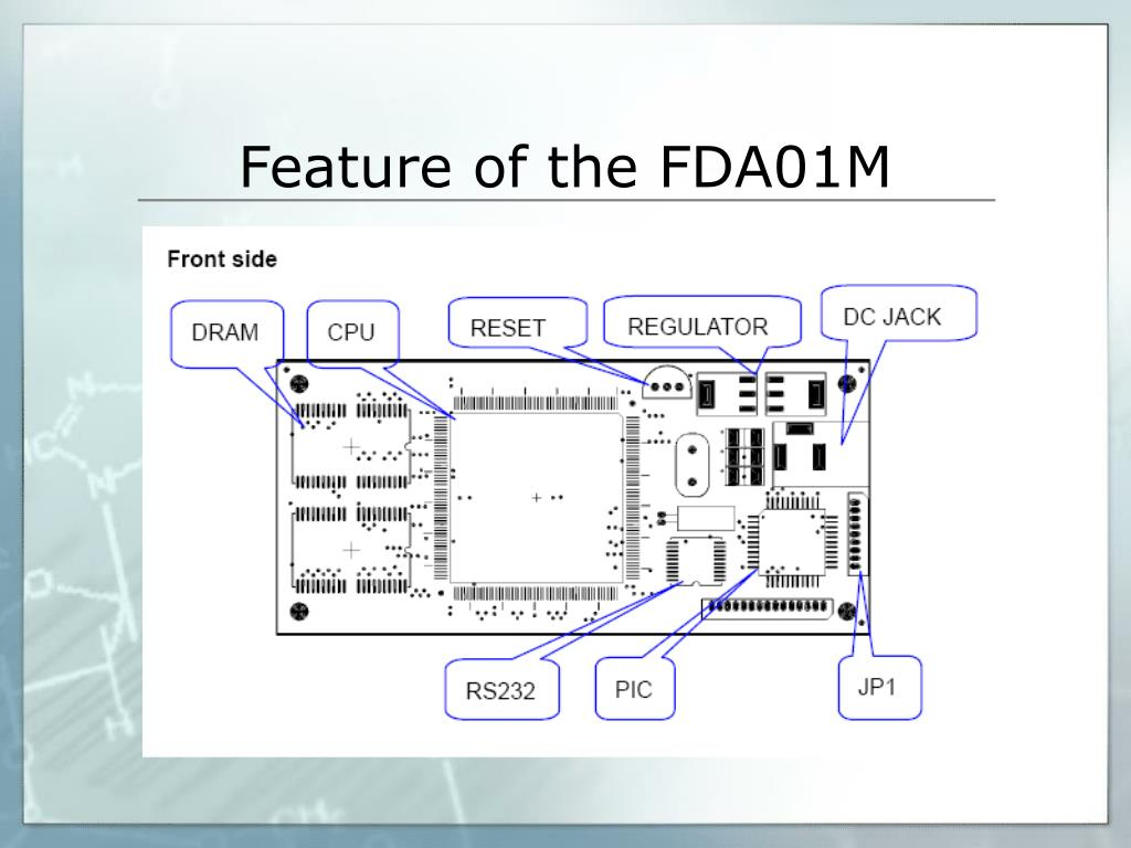 Feature of the FDA01M