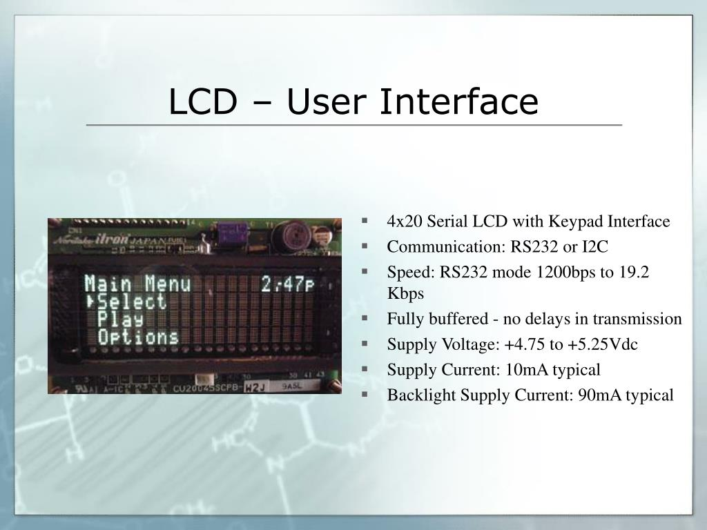 4x20 Serial LCD with Keypad Interface