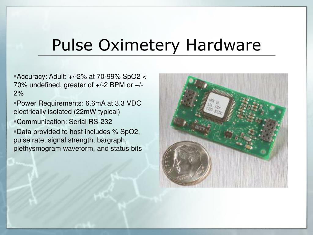 Pulse Oximetery Hardware