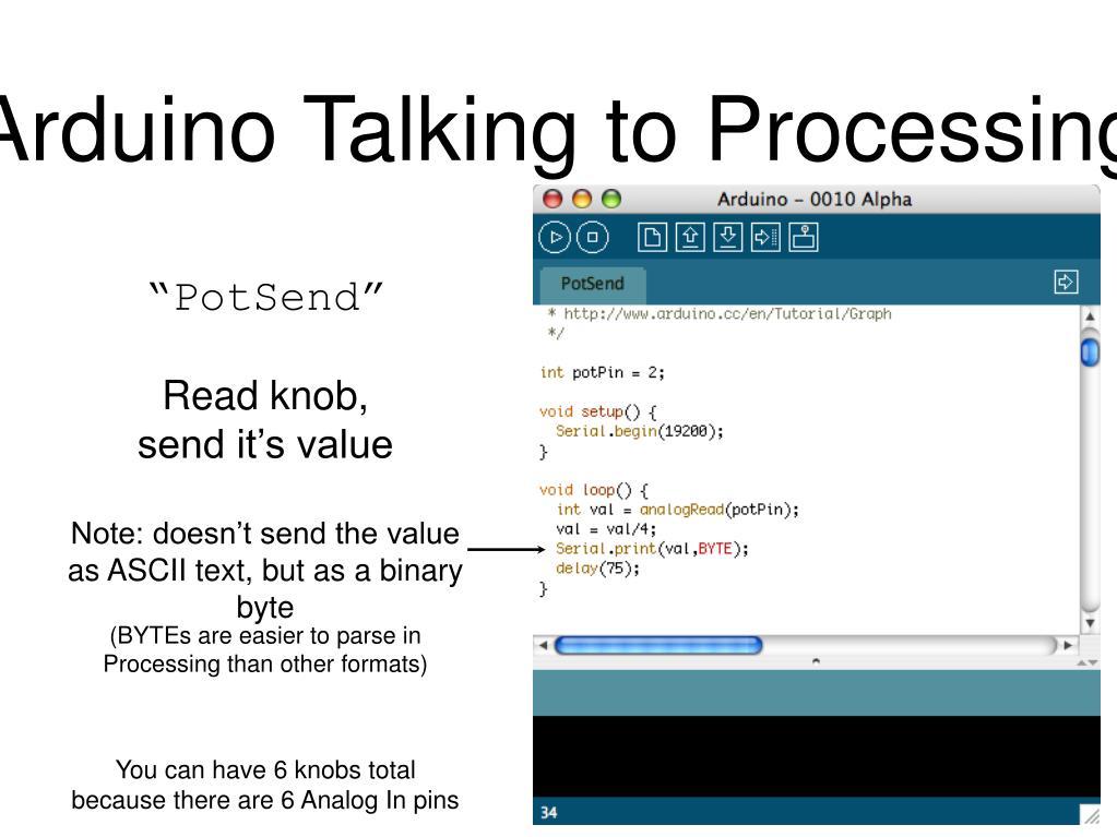 Arduino Talking to Processing