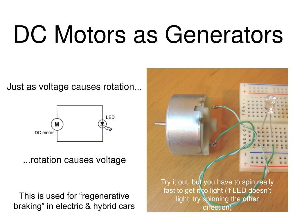 DC Motors as Generators
