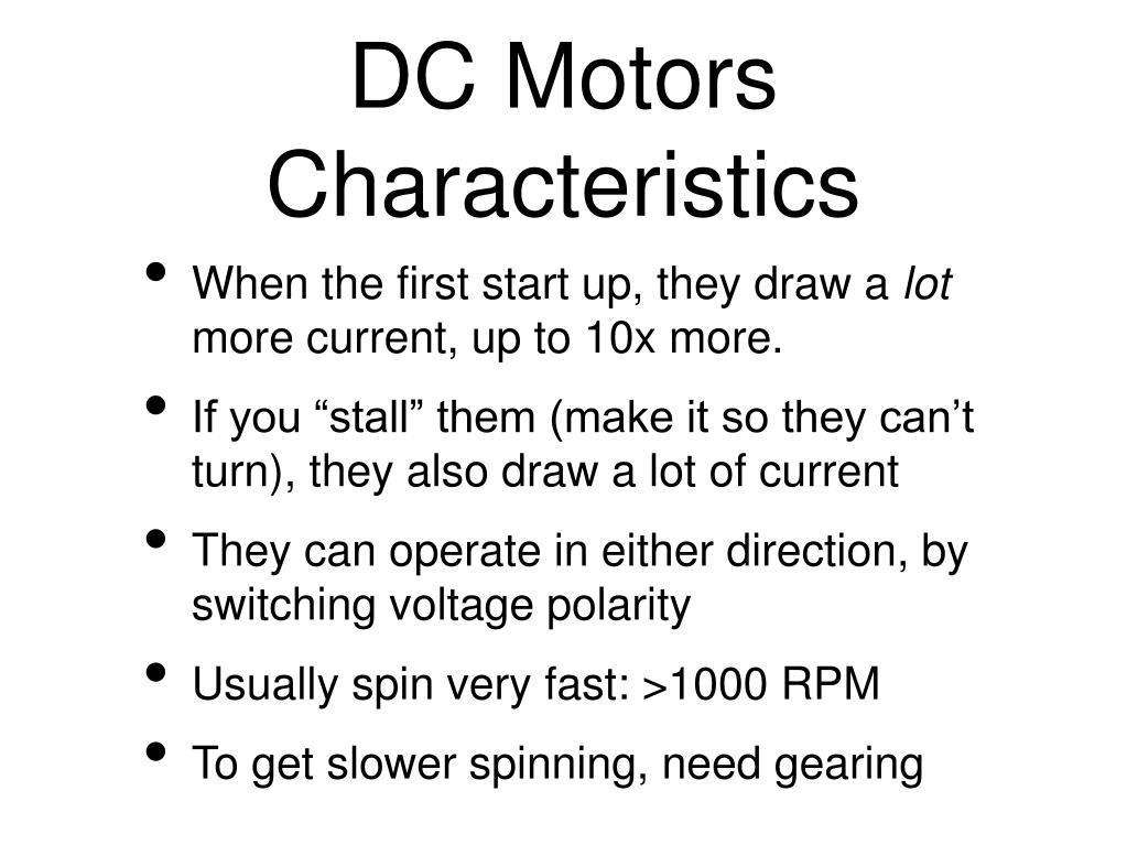 DC Motors Characteristics