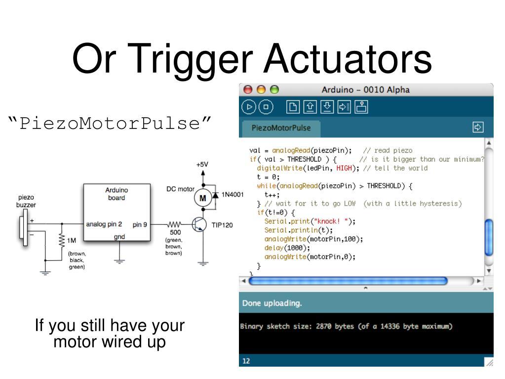 Or Trigger Actuators