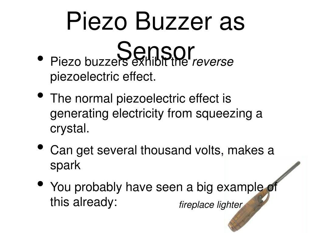 Piezo Buzzer as Sensor