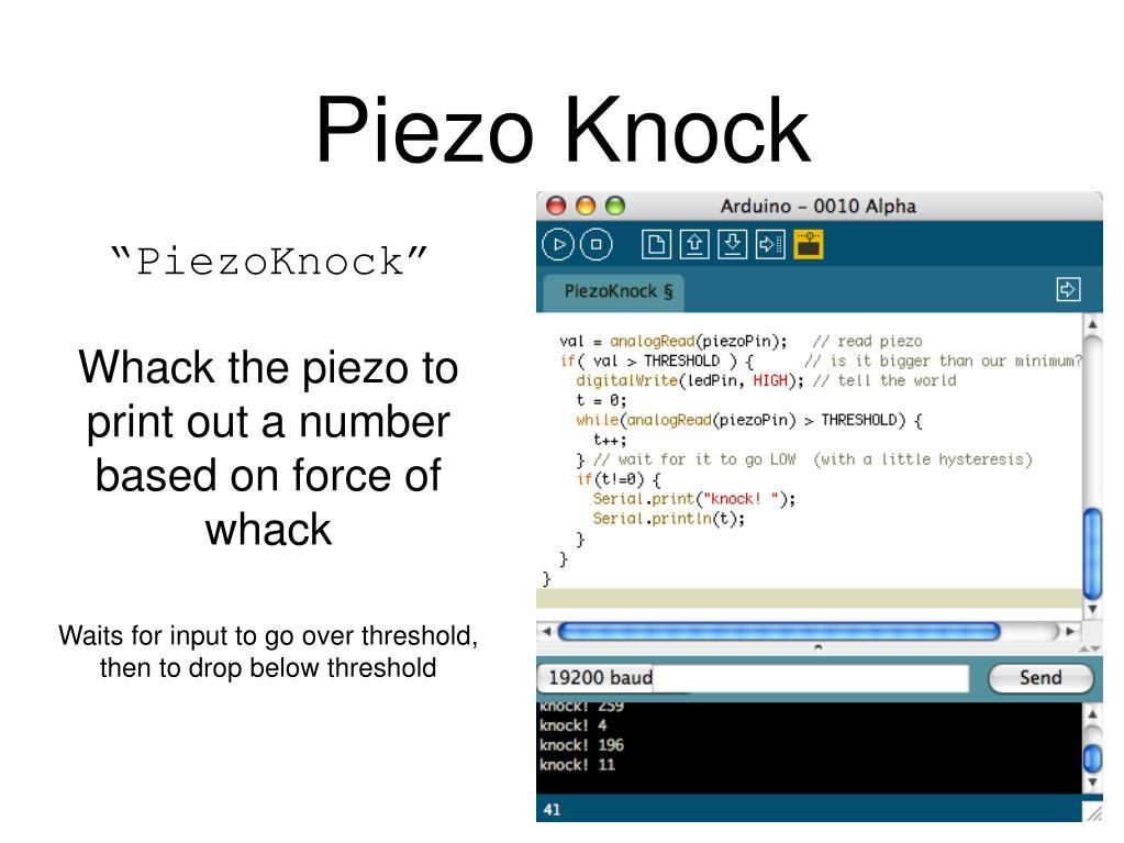 Piezo Knock