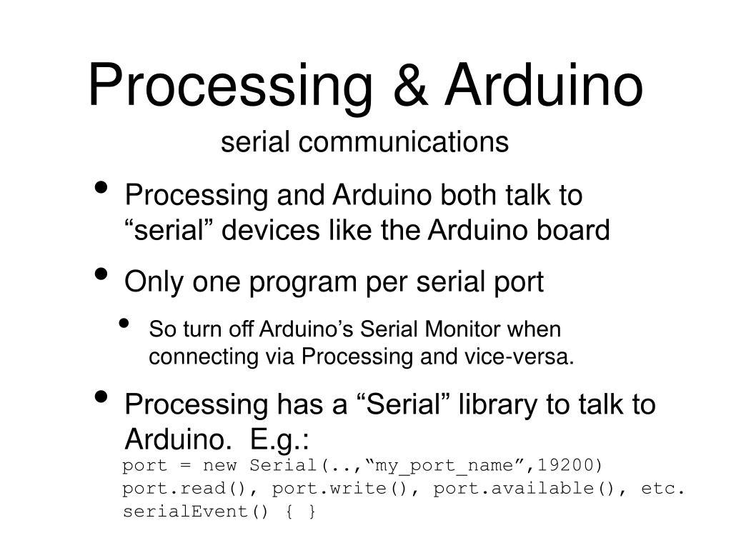 Processing & Arduino
