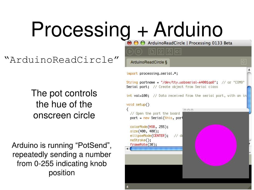Processing + Arduino