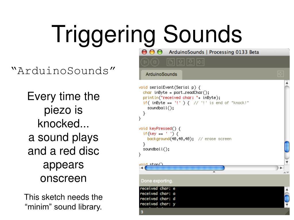 Triggering Sounds
