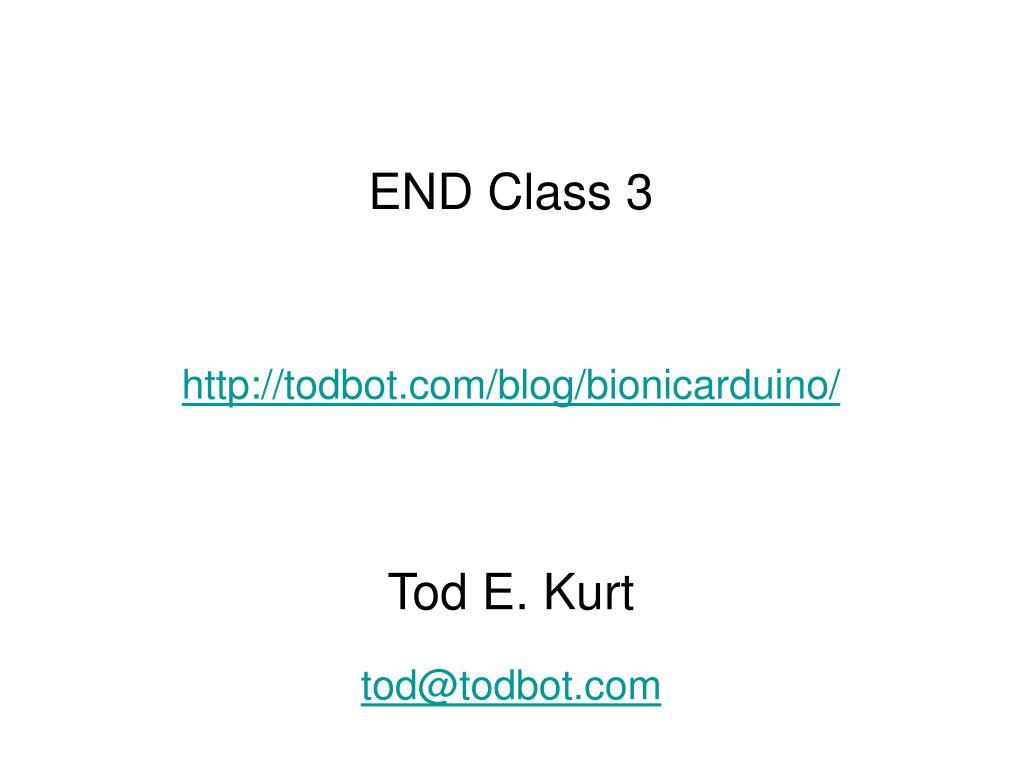 END Class 3
