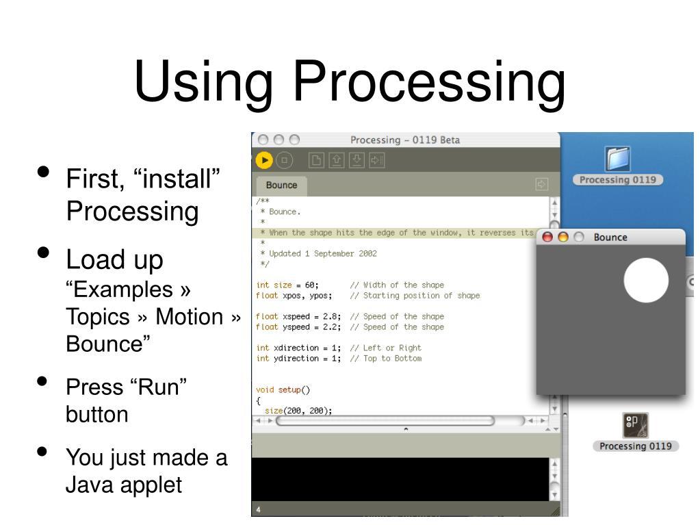 Using Processing