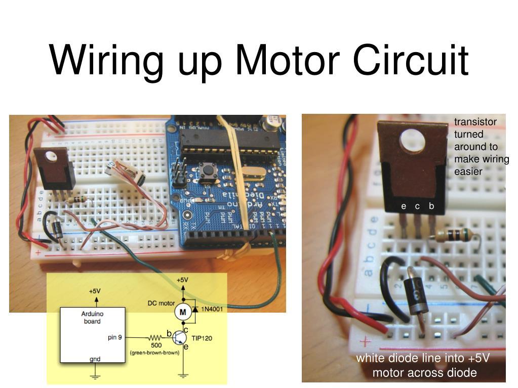 Wiring up Motor Circuit