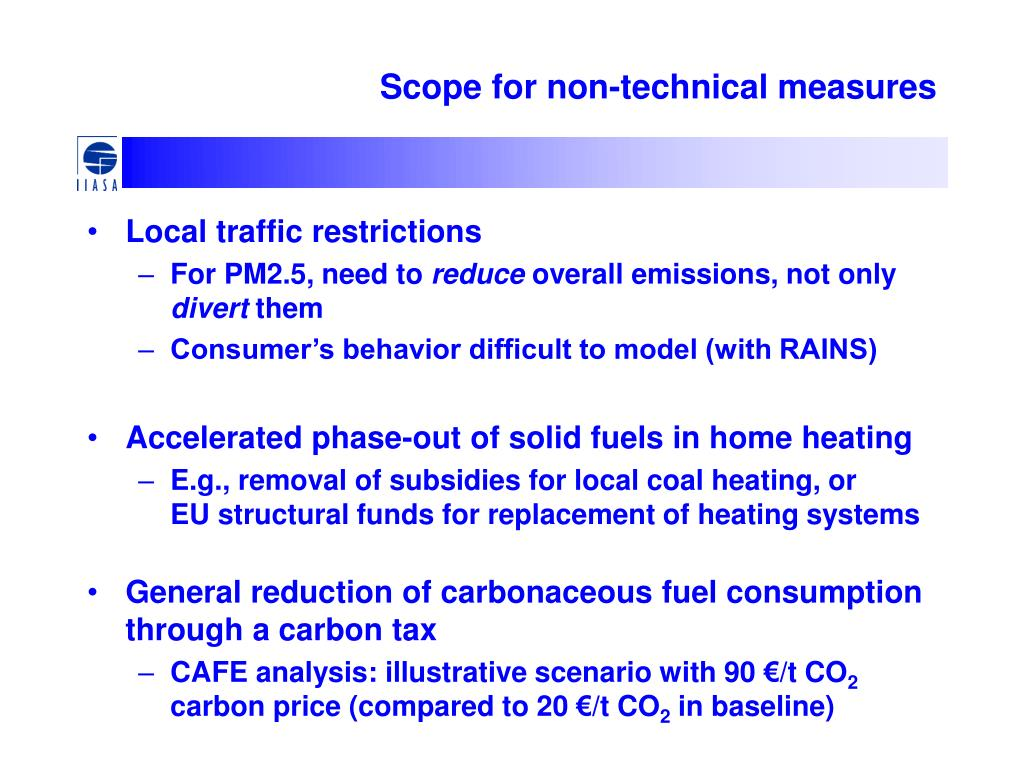 Scope for non-technical measures