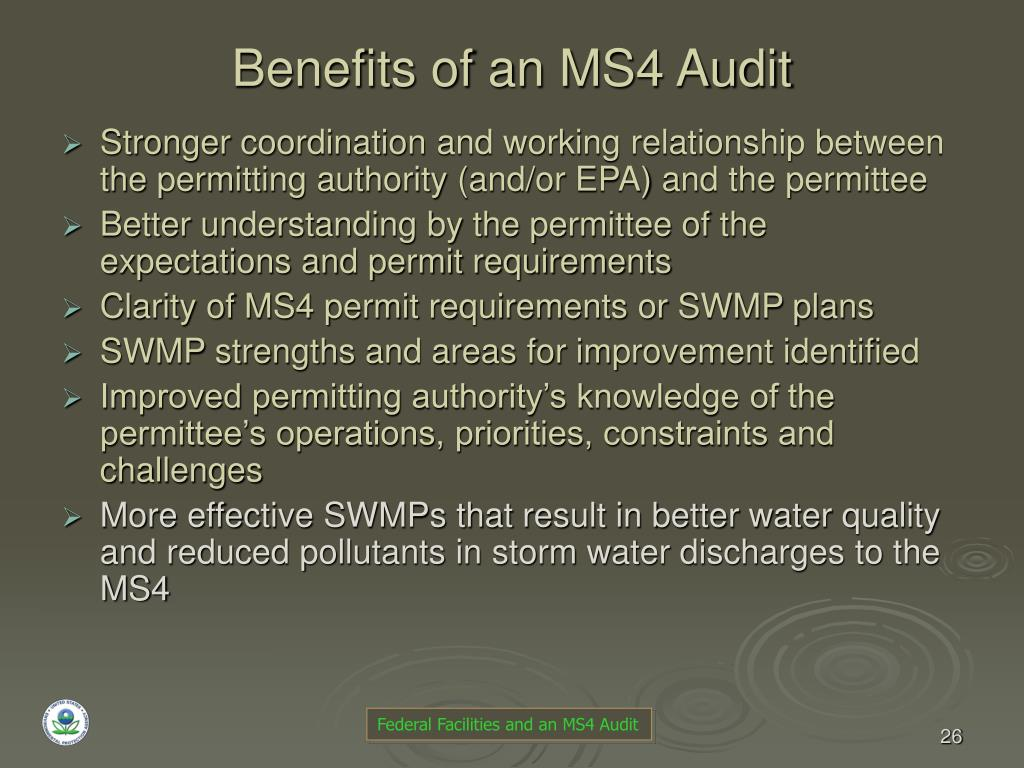 Benefits of an MS4 Audit