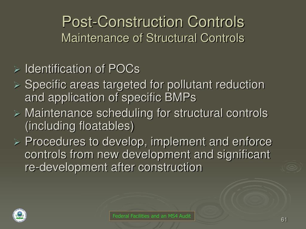 Post-Construction Controls