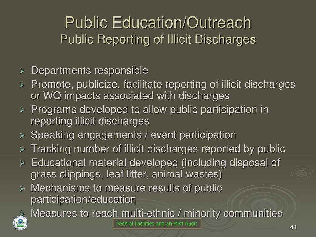 Public Education/Outreach