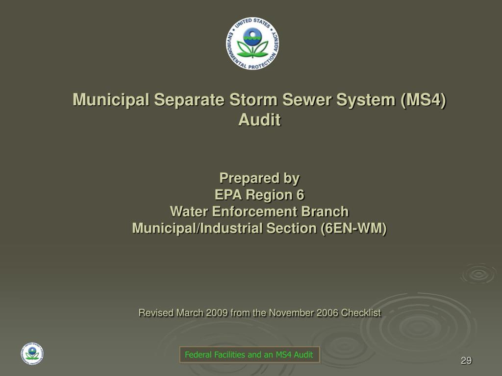 Municipal Separate Storm Sewer System (MS4)