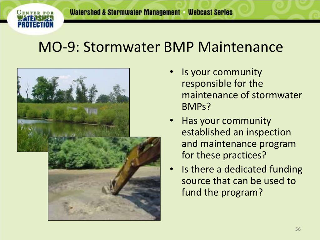 MO-9: Stormwater BMP Maintenance