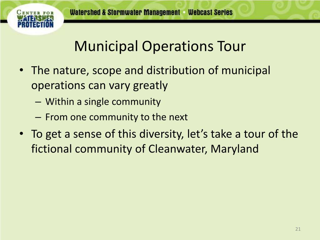 Municipal Operations Tour