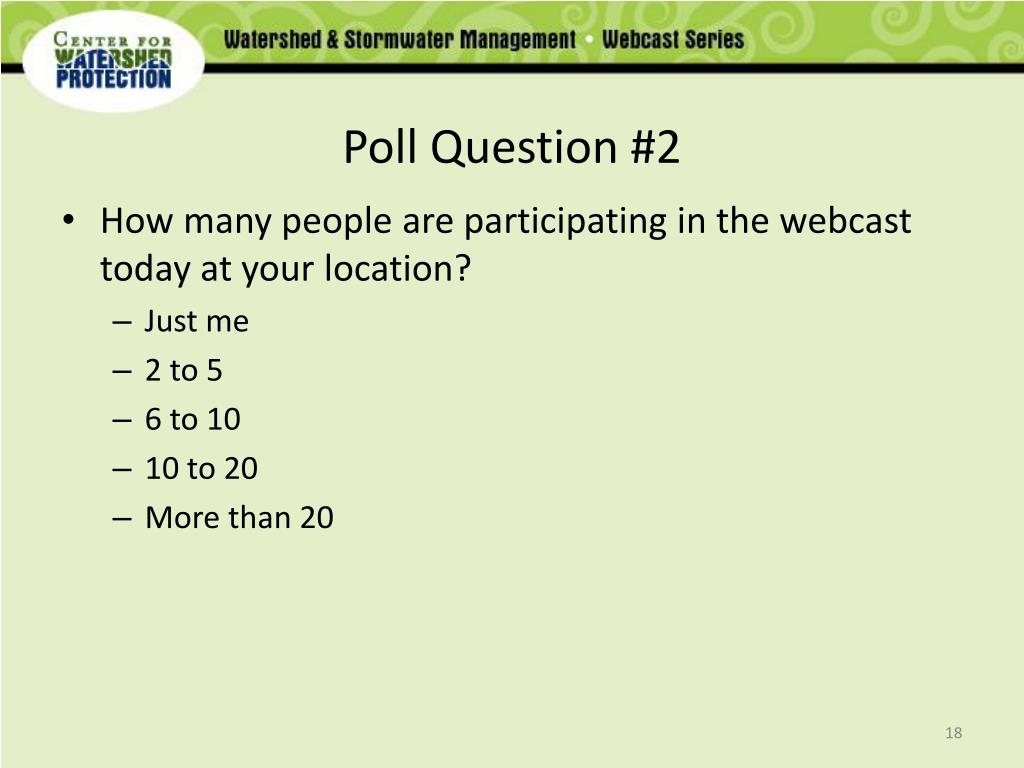 Poll Question #2