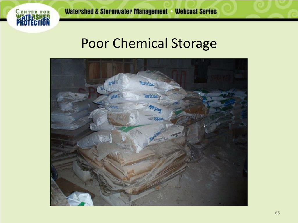 Poor Chemical Storage