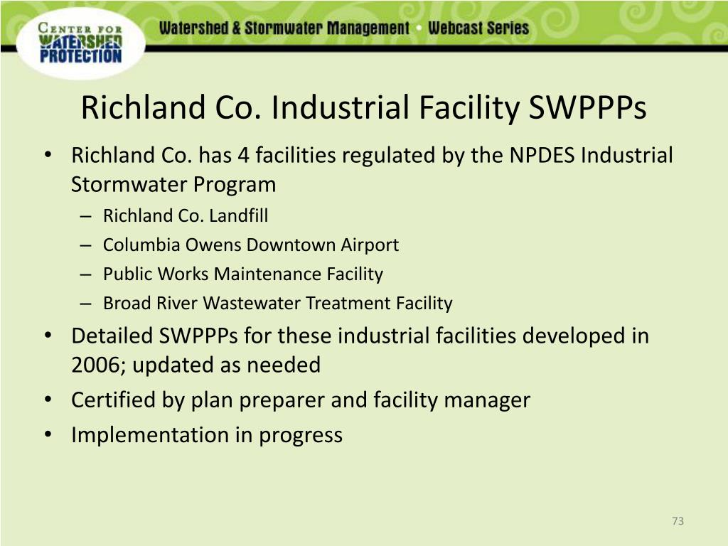 Richland Co. Industrial Facility SWPPPs