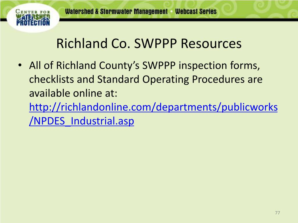 Richland Co. SWPPP Resources