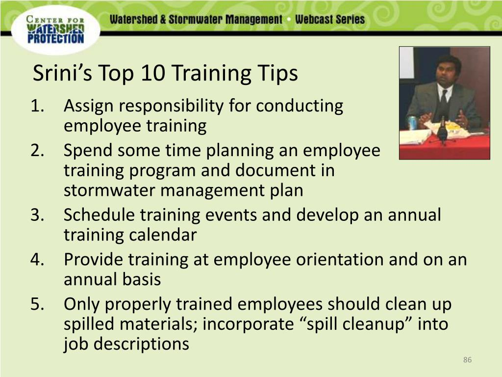 Srini's Top 10 Training Tips