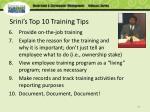 srini s top 10 training tips87