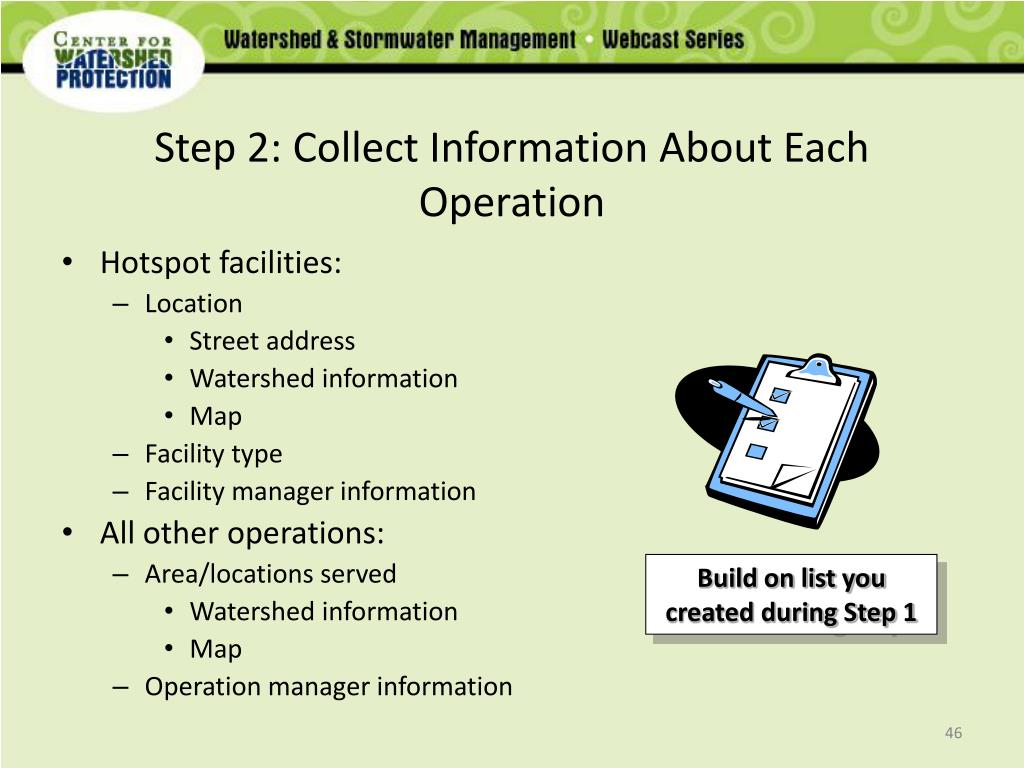 Step 2: Collect Information About Each Operation