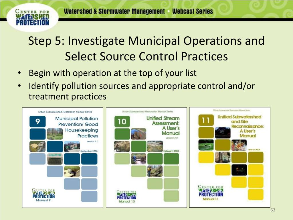 Step 5: Investigate Municipal Operations and Select Source Control Practices