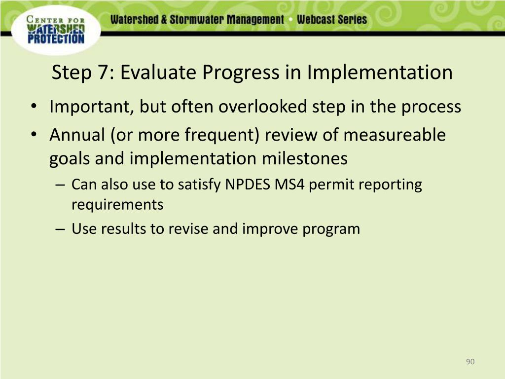 Step 7: Evaluate Progress in Implementation