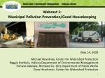 webcast 1 municipal pollution prevention good housekeeping2