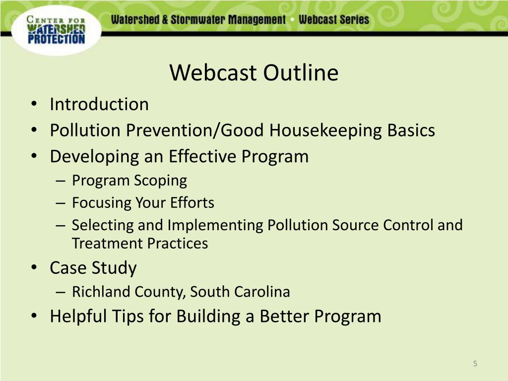 Webcast Outline