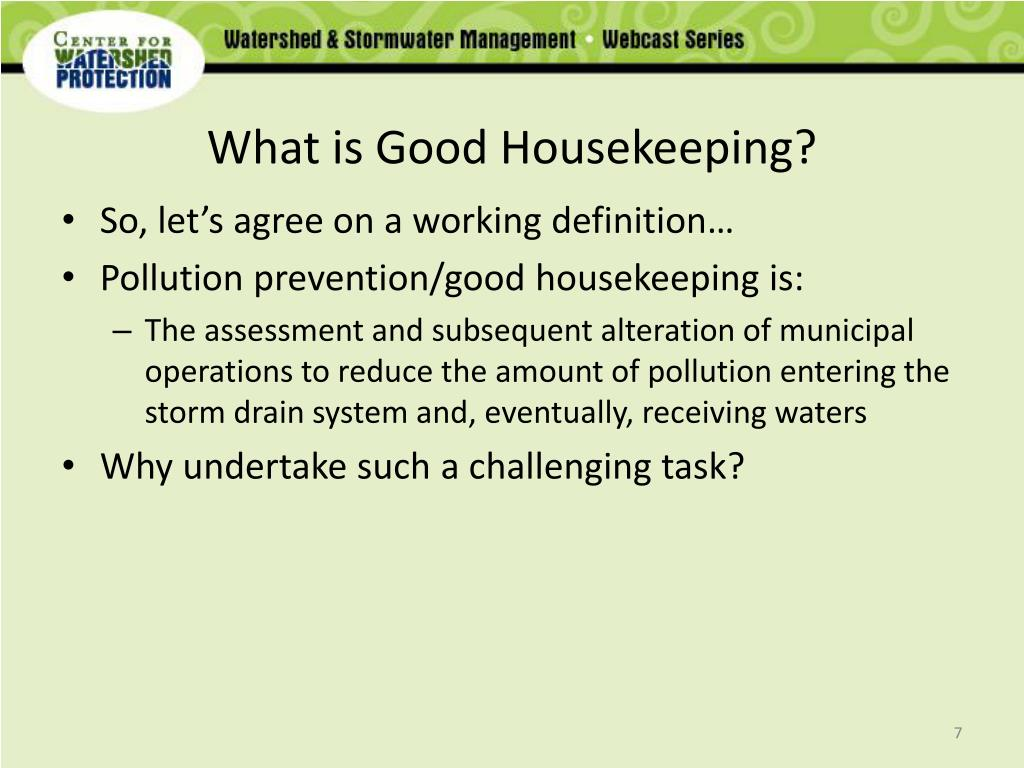 What is Good Housekeeping?