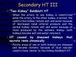 secondary ht iii