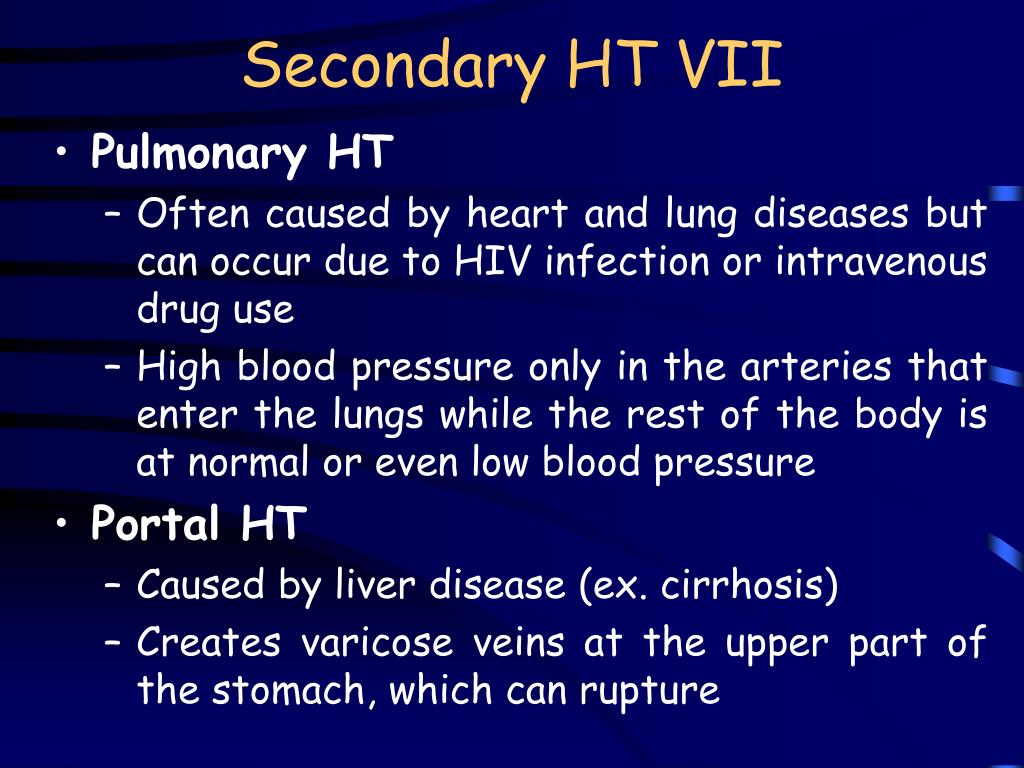 Secondary HT VII
