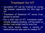 treatment for ht