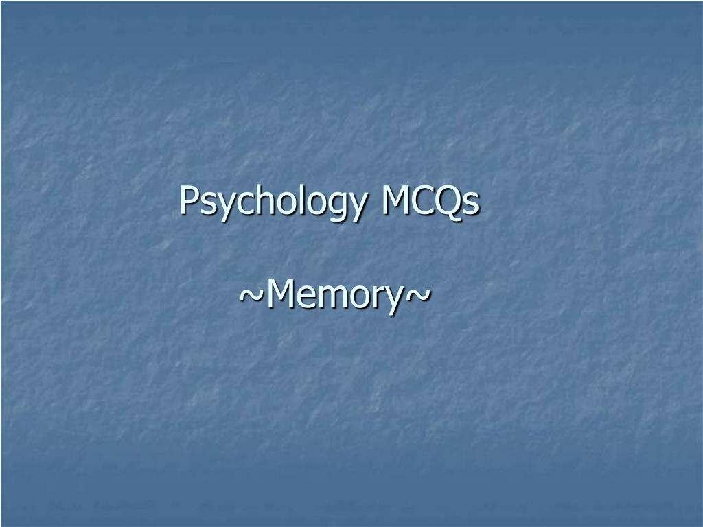Psychology MCQs
