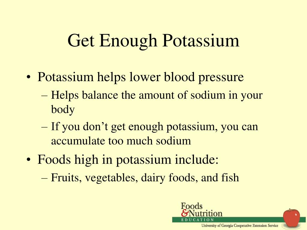 Get Enough Potassium